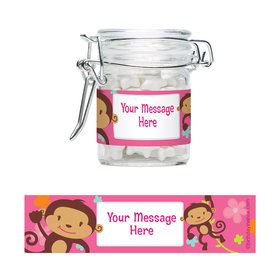 Flower Monkey Personalized Swing Top Apothecary Jars (12 ct)