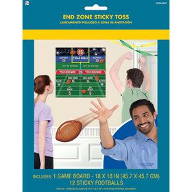 Football End Zone Sticky Toss Party Game
