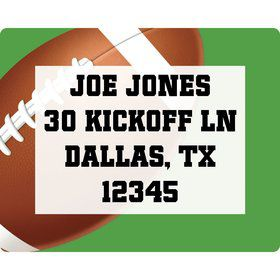 Football Party Personalized Address Label