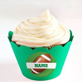 Football Party Personalized Cupcake Wrappers (Set of 24)