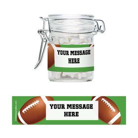 Football Party Personalized Glass Apothecary Jars (12 Count)