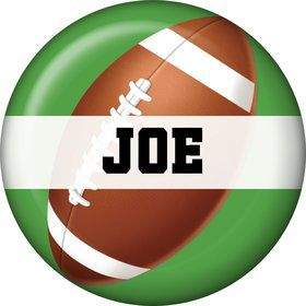 Football Party Personalized Mini Button (each)