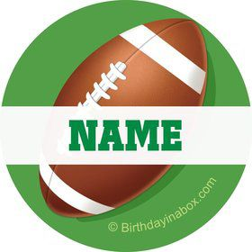 Football Party Personalized Mini Stickers (Sheet of 24)