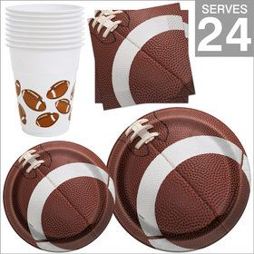 Football Party Supplies Standard Kit For 24