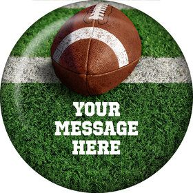 Football Personalized Button (Each)