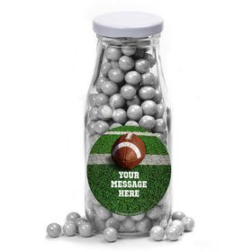 Football Personalized Glass Milk Bottles (12 Count)