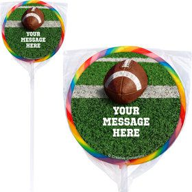 Football Personalized Lollipops (12 Pack)