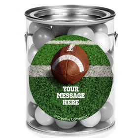 Football Personalized Mini Paint Cans (12 Count)