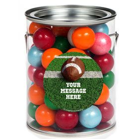 Football Personalized Paint Cans (6 Pack)