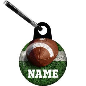 Football Personalized Zipper Pull (Each)