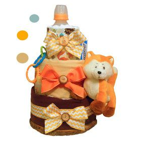 Forest Fox Diaper Cake