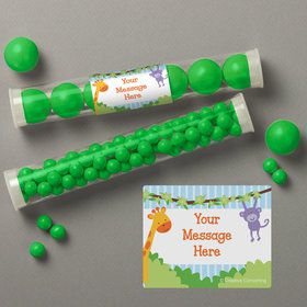 Forest Friends Personalized Candy Tubes (12 Count)