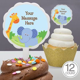 Forest Friends Personalized Cupcake Picks (12 Count)