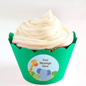 Forest Friends Personalized Cupcake Wrappers (Set of 24)