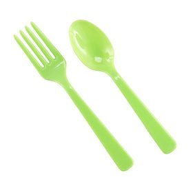 Forks Spoons - Lime Green