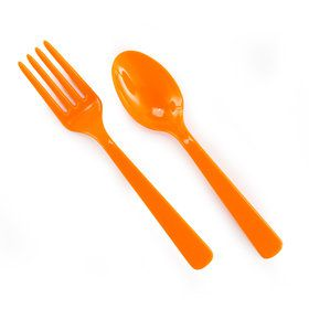Forks Spoons - Orange