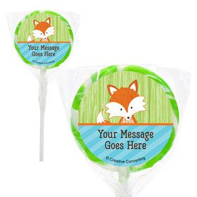 "Fox Personalized 2"" Lollipops (20 Pack)"