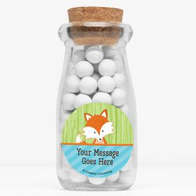 "Fox Personalized 4"" Glass Milk Jars (Set of 12)"