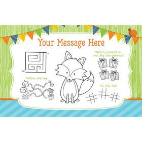 Fox Personalized Activity Mat (8 Count)