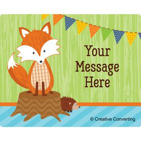Fox Personalized Rectangular Stickers (Sheet of 15)