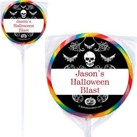 Fright Night Personalized Lollipops (12 Pack)