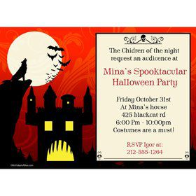 Frightful Personalized Invitation (Each)