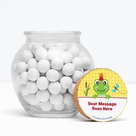 "Frog Pond Fun Personalized 3"" Glass Sphere Jars (Set of 12)"