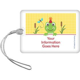 Frog Pond Fun Personalized Luggage Tag (Each)