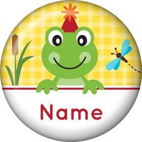 Frog Pond Fun Personalized Mini Button (Each)