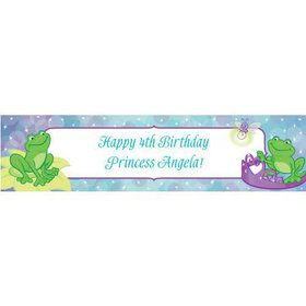 Frog Princess Personalized Banner (each)