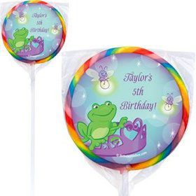 Frog Princess Personalized Lollipops (pack of 12)