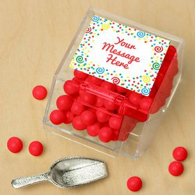 Frosted Cake Personalized Candy Bin with Candy Scoop (10 Count)