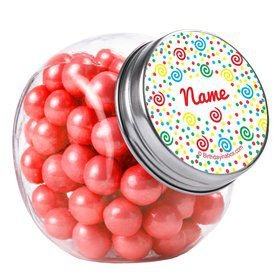 Frosted Cake Personalized Plain Glass Jars (12 Count)