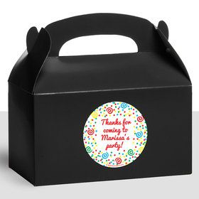 Frosted Cake Personalized Treat Favor Boxes (12 Count)