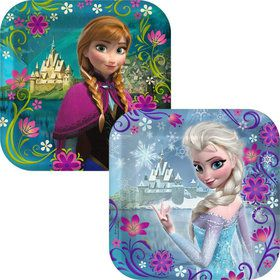 Frozen Anna and Elsa Dessert Plates (8 Pack)