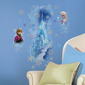 Frozen Ice Palace w/ Elsa and Anna Giant Wall Decal (Each)