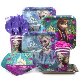 Frozen Birthday Party Standard Tableware Kit (Serves 8)