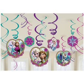 Frozen Swirl Decorations (12)