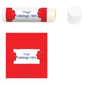 Fuzzy Friends 1st Birthday Personalized Lip Balm (12 Pack)