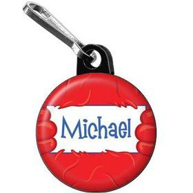 Fuzzy Friends 1st Birthday Personalized Mini Zipper Pull (each)