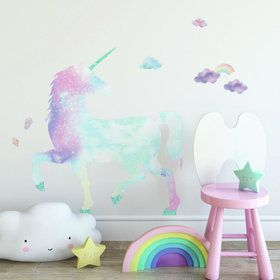 Galaxy Glitter Unicorn Giant Peel & Stick Decals
