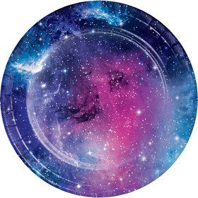 "Galaxy Party 7"" Dessert Plate (8)"