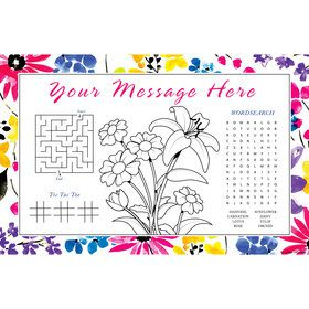 Garden Blooms Personalized Activity Mat (8 Count)