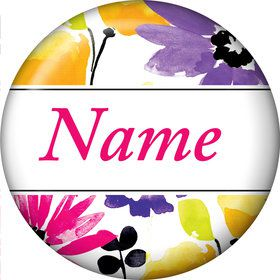 Garden Blooms Personalized Mini Button (Each)