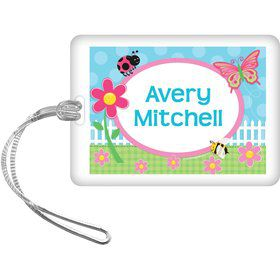 Garden Party Personalized Bag Tag (each)