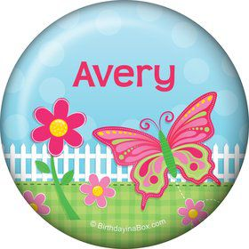 Garden Party Personalized Button (each)