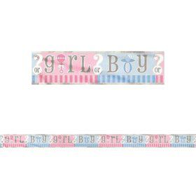Gender Reveal 12' Foil Banner Decoration (Each)