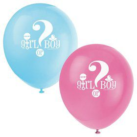 "Gender Reveal 12"" Latex Balloons (8 Pack)"
