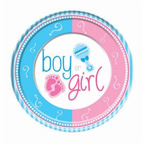 "Gender Reveal 9"" Lunch Plates (8)"