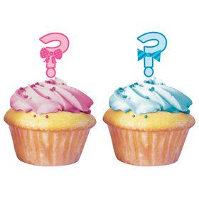 Gender Reveal Cupcake Topper (12 Pack)